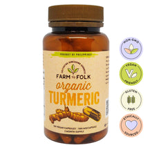 Load image into Gallery viewer, Organic Turmeric Capsules
