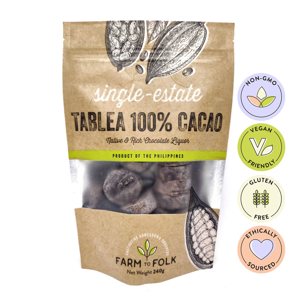 Single-Estate Organic Tablea: 100% Cacao