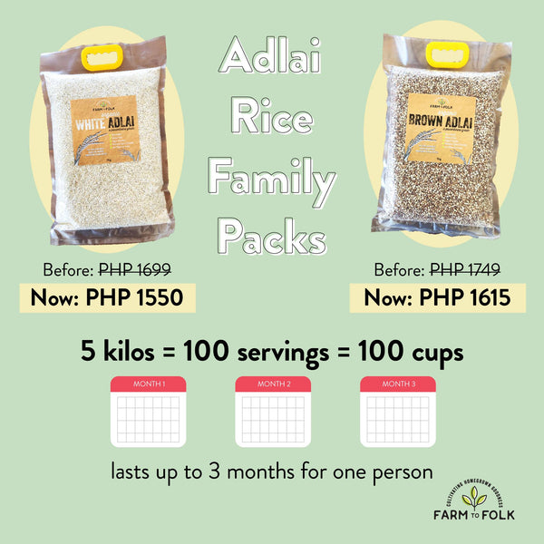 [FAMILY PACK] Organic White Adlai 5kg w/ Handle