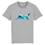 t shirt requin geometrique