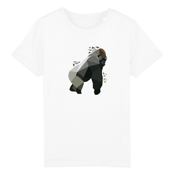 t-shirt animaux gorille polygone