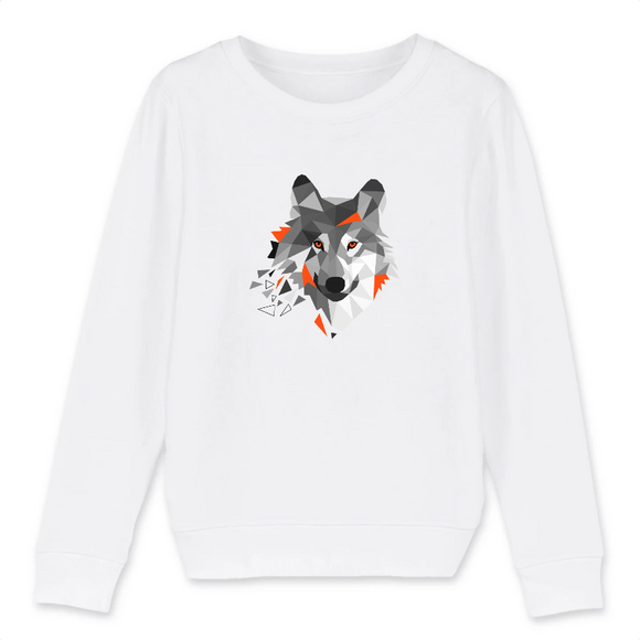Sweat Animaux Motif Loup
