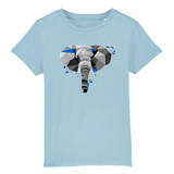 elephant t shirt blue