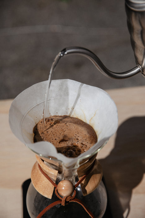 Chemex filters in use