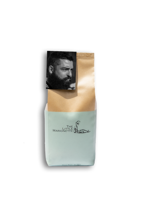 Sanchez Blend 7 coffee bag by The Little Marionette