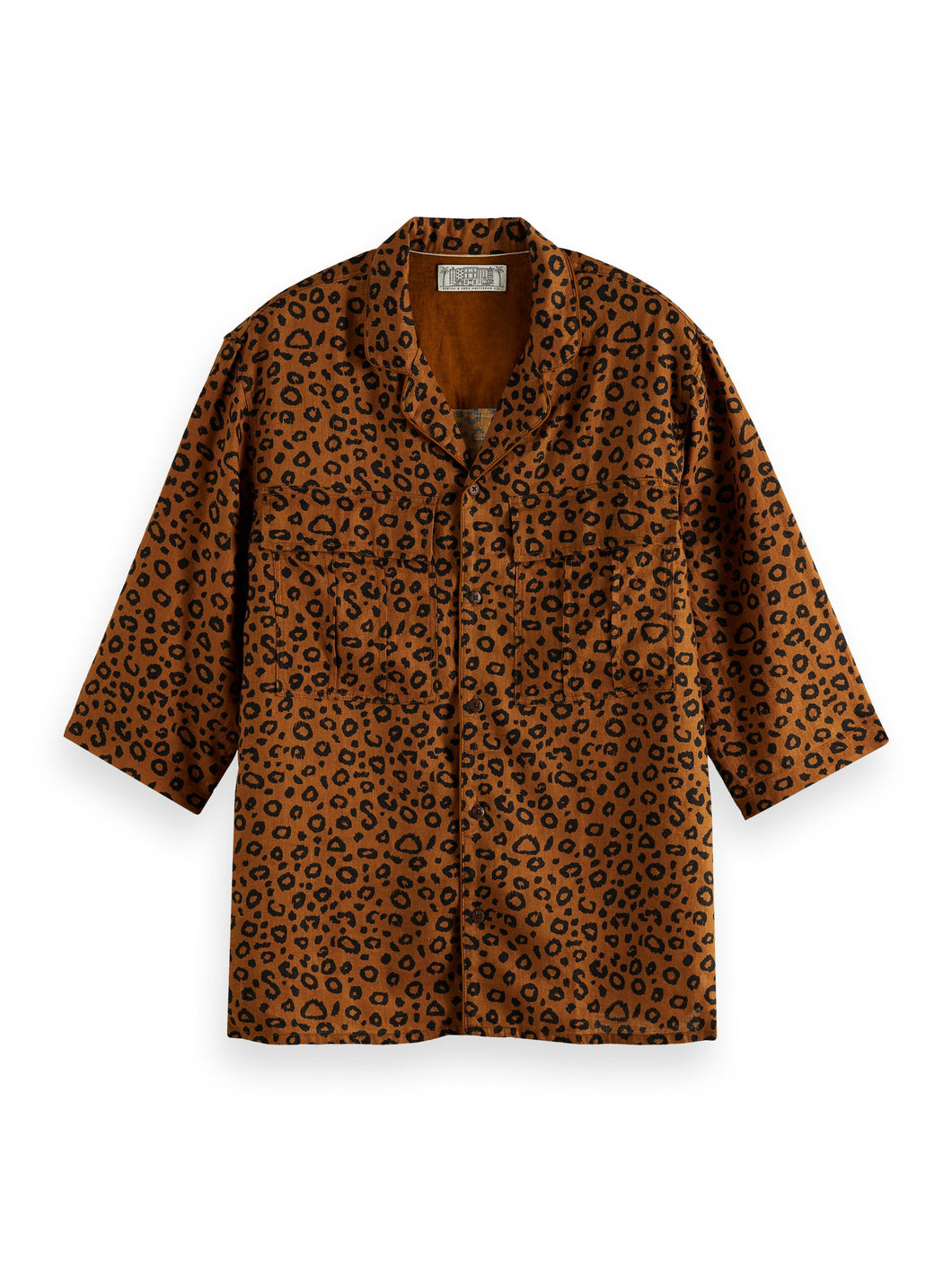 Scotch & Soda Printed Short Sleeve Shirt