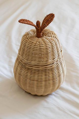 Rattan Pear Storage Basket