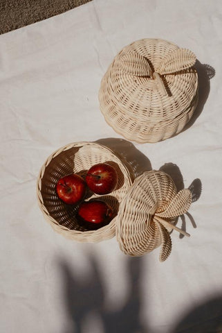 Apple Rattan Storage Basket
