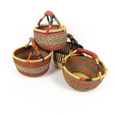 Medium Round Bolga Basket