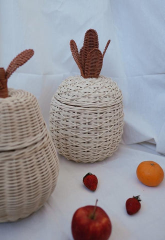 Rattan Pineapple Storage Basket