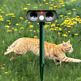 PestSensor™ Solar Power Ultrasonic Animal Pest Repeller Infrared Sensor Waterproof Animal Deterrent