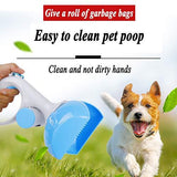 2 In 1 Pet Pooper Scooper + Poop Bags Set - Kimpets'