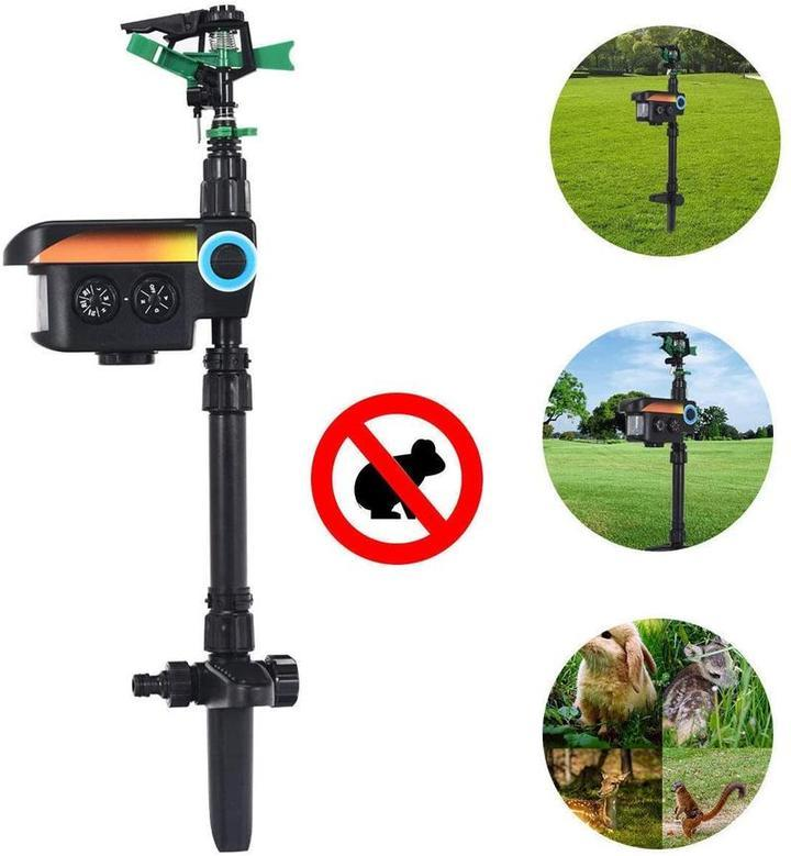 Solar Powered Motion Activated Animal Repellent Garden Sprinkler