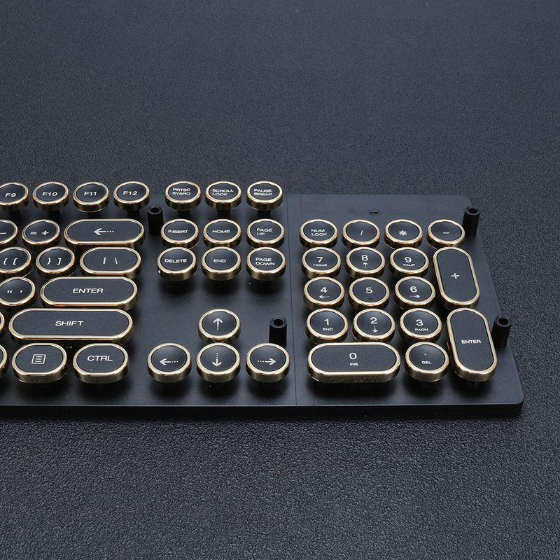 Steampunk Styled Typewriter Keycaps – Mechanical Keyboard Switch