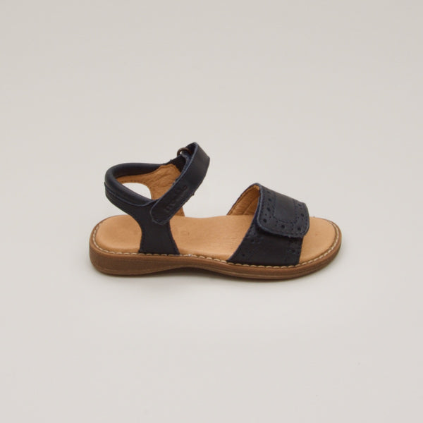 Leather Sandals | Dark Navy