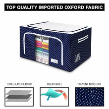 Load image into Gallery viewer, Foldable Fabric Storage Boxes For Clothes, Sarees, Bed Sheets, Blanket Etc.
