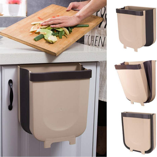 Collapsible Hanging Trash Bin For Kitchen