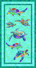 Load image into Gallery viewer, Calypso turtles panel