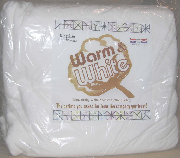 Warm & White Cotton Batting King Size