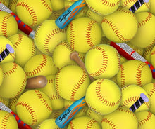 Load image into Gallery viewer, Softball fabric from Elizabeth's Studio