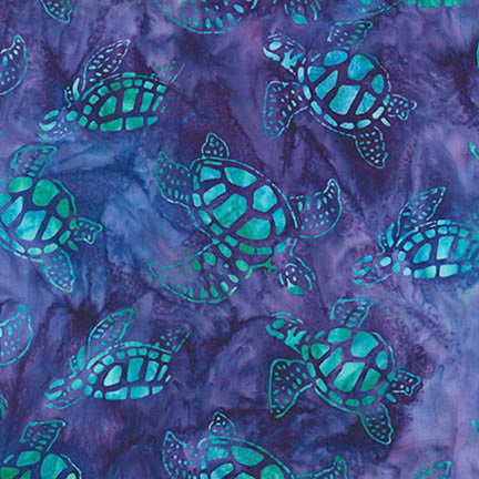 Sea Turtles Adventure Artisan Batiks Totally Tropical AMD-15497-267 by Lunn Studios