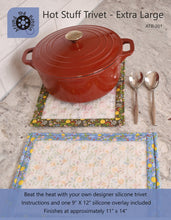 Load image into Gallery viewer, Hot stuff trivet and potholder extra large