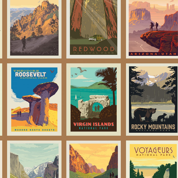 National Parks posters sand colorway