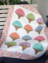 Load image into Gallery viewer, Ice Cream Cones Quilt Kit Cut Loose Press
