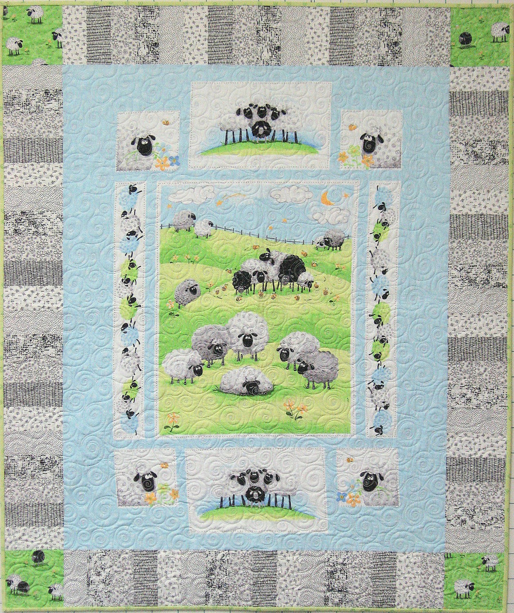 Cut Loose Press Skipping Along Easy Baby or other Quilt pattern