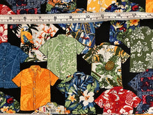 Load image into Gallery viewer, Hawaiian shirts on black