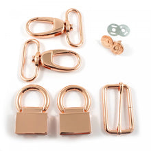 Load image into Gallery viewer, Double Flip Shoulder Bag Hardware Kit Copper