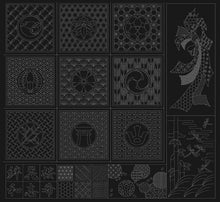 Load image into Gallery viewer, Sashiko cloth wagara black