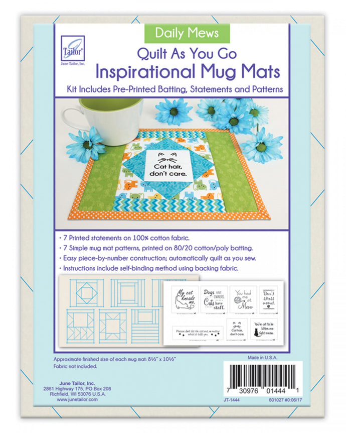 Just add fabric! Mug mat kit Daily Mews