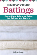 Load image into Gallery viewer, Know Your Battings: Carry-along Reference Guide for Quilters and Sewers