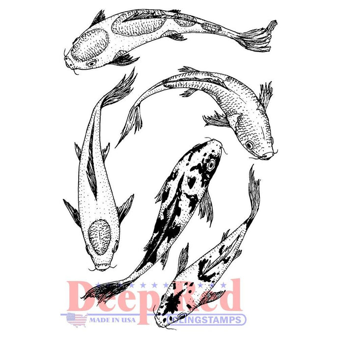 Deep Red Cling Stamp koi