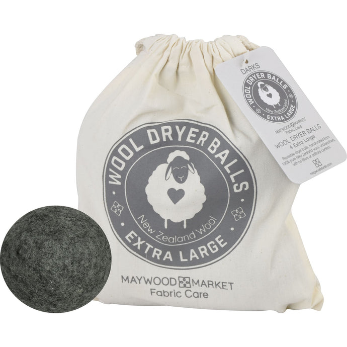 Wool Dryer Balls Dark includes 4 reusable dyer balls