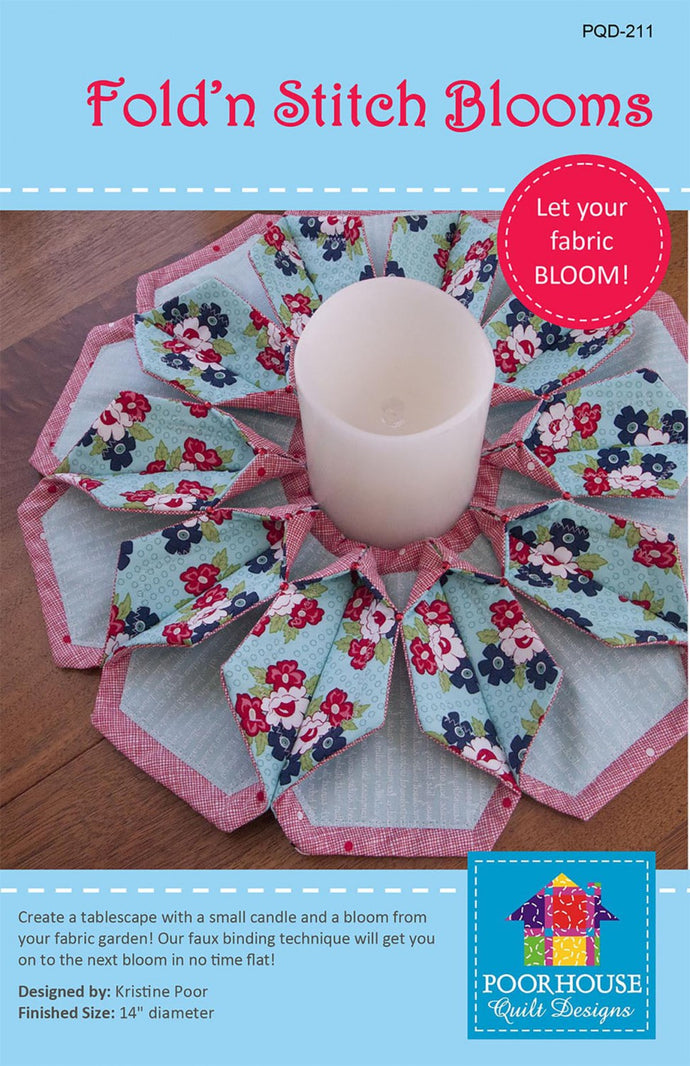 Fold n stitch blooms pattern by Kristine Poor