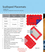 Load image into Gallery viewer, Scalloped Placemats Pattern