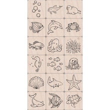 Load image into Gallery viewer, Mounted Rubber Stamp Set Sealife
