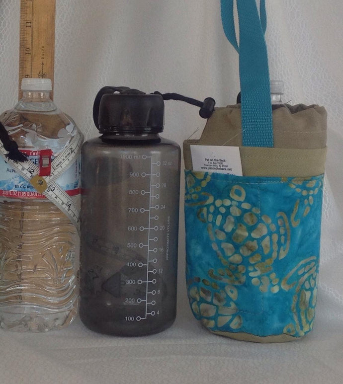 Insulated bottle totes squat liter or quart