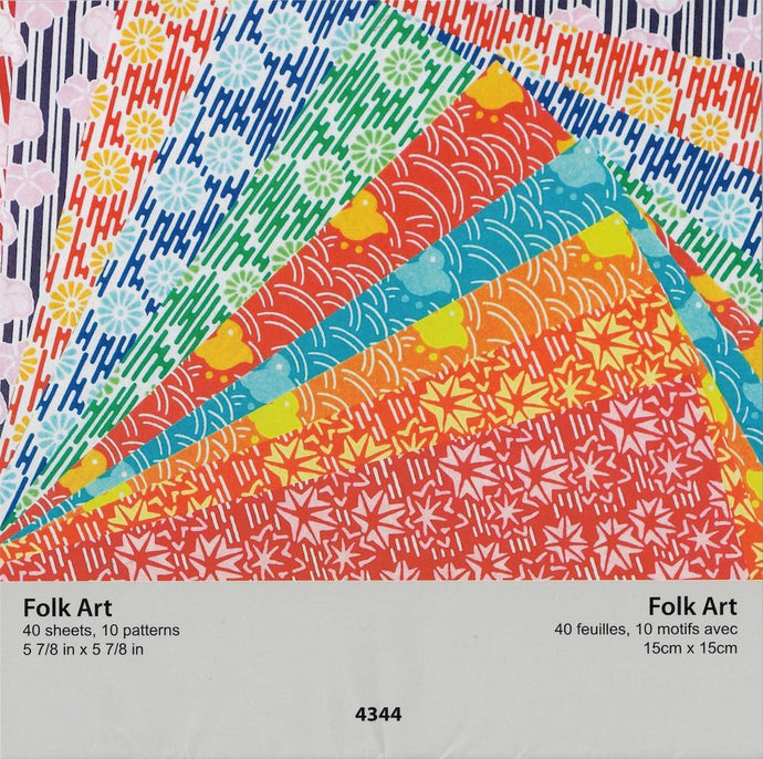 Folk Art Assorted 5.88 inch 40 papers