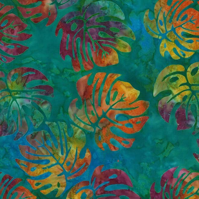 Batik lagoon color leaves