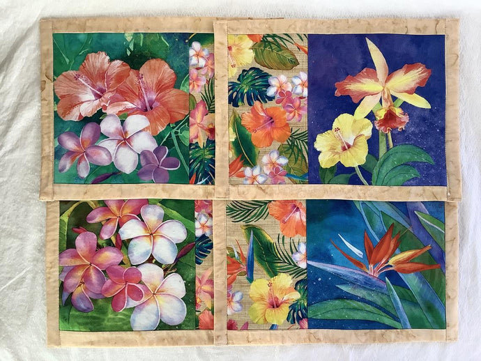 Tropical holiday placemats