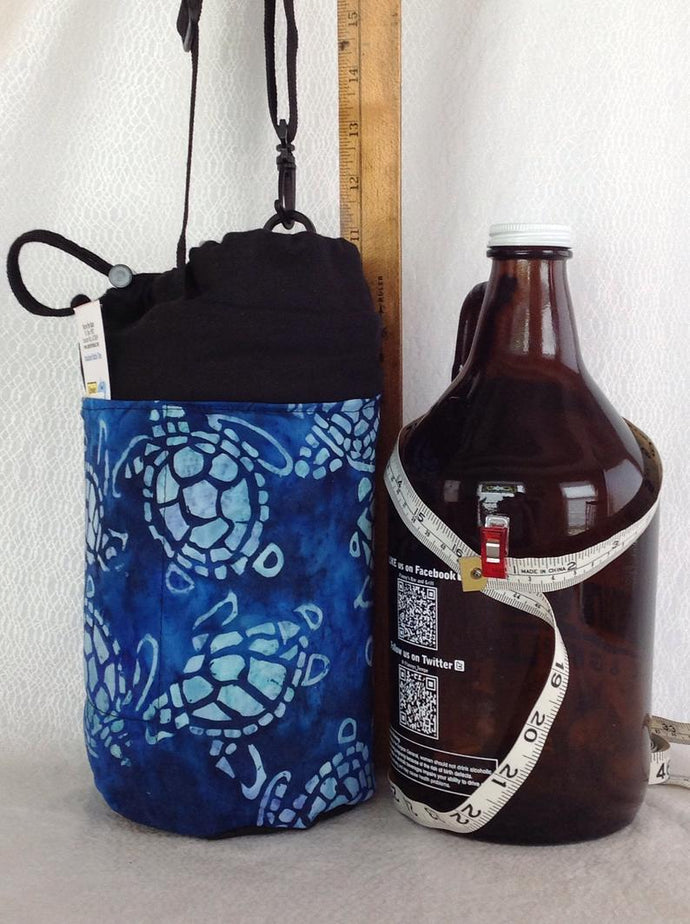 Insulated bottle totes growler half gallon