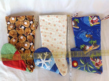Load image into Gallery viewer, Tropical holiday stockings sewn by Pat