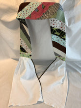 Load image into Gallery viewer, Handi Towel Cowl pattern and template to wear your towel around your neck