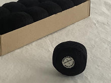 Load image into Gallery viewer, Valdani Solid Pearl Cotton Ball Size 8 73 yard Black