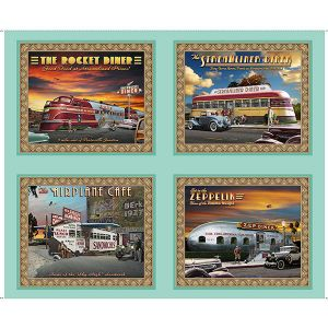 Retro Diner Picture Patches Artworks VIII