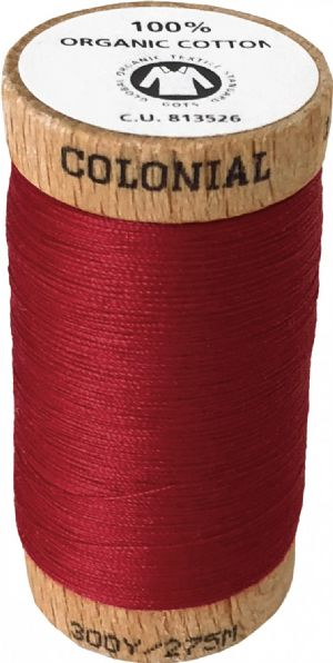 Organic Cotton Thread 300yd Wine