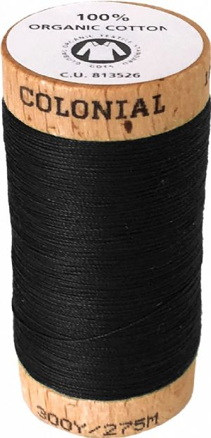 Organic Cotton Thread 300yd Black Onyx